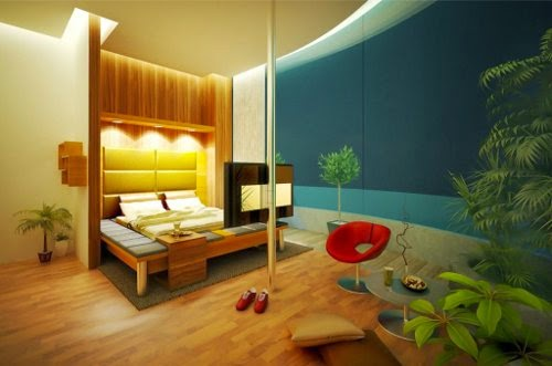 minimalist master bedroom decor green layout plants