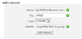 cara merubah blogspot menjadi costum domain