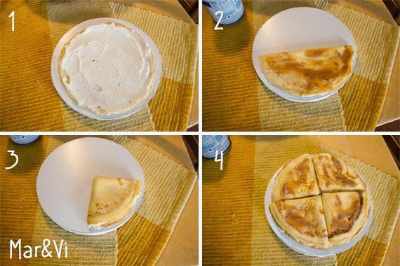 Ricetta torta di crepes con crema di ricotta e mele