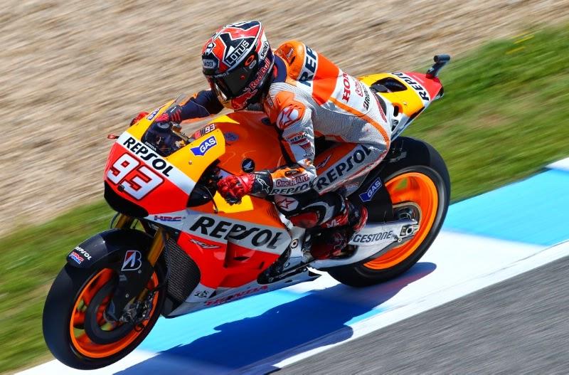 MotoGP : Jerez,Spanyol podium pertama untuk yang ke empat kalinya bagi Marc Marquez . . .