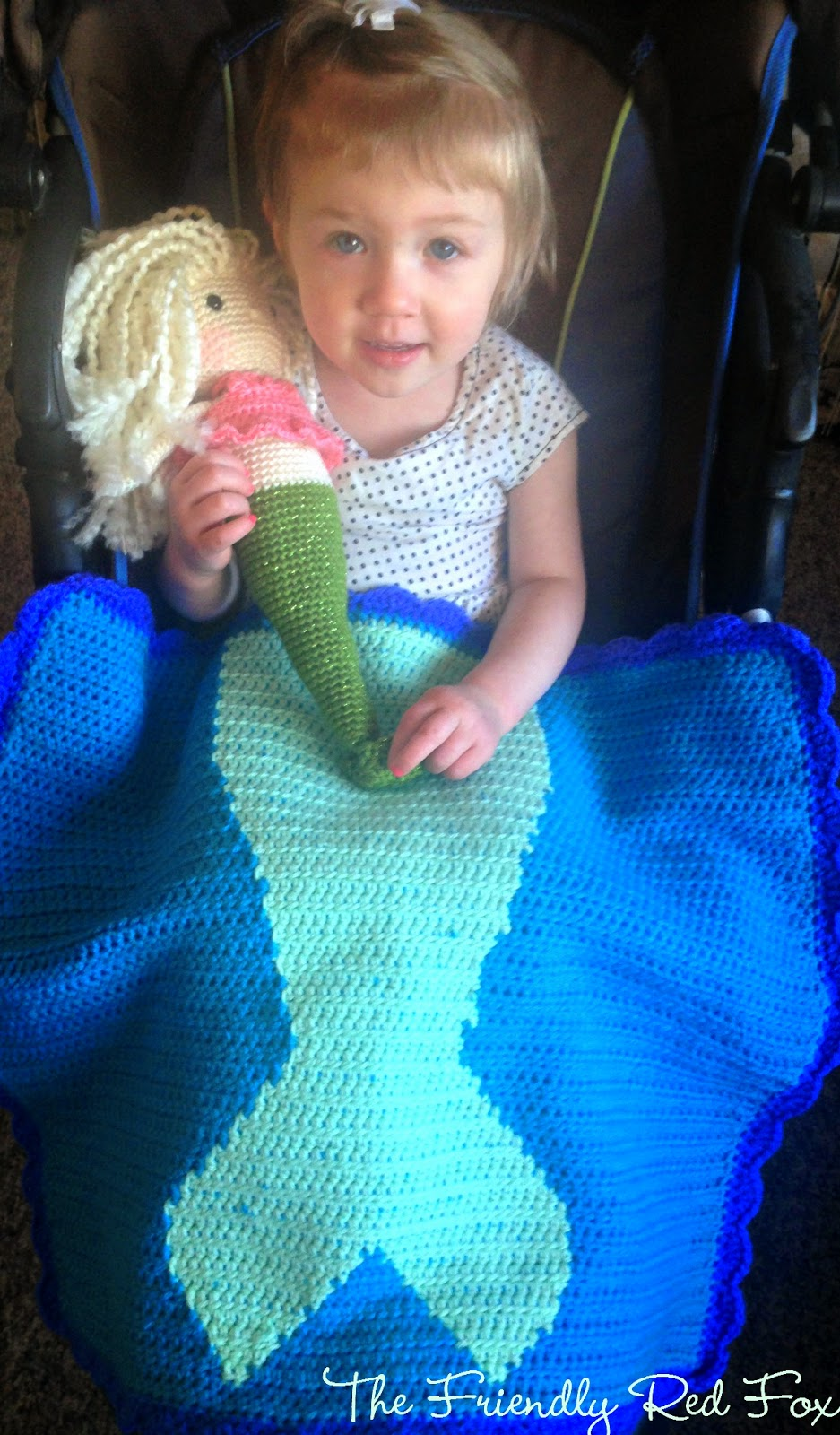 Free Crochet Mermaid Tail Blanket Pattern - The Friendly ...