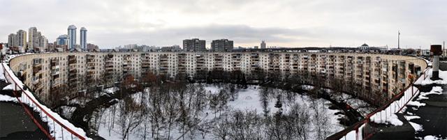 A casa circular na Rússia