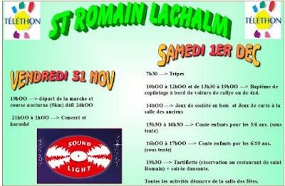 Téléthon 2012, saint Romain Lachalm
