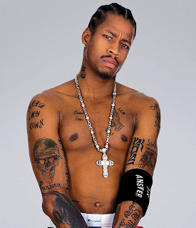 Allen Iversontattoos on Most Of Allen Iverson S Tattoos Are Within The Hip Hop Vogue He Has
