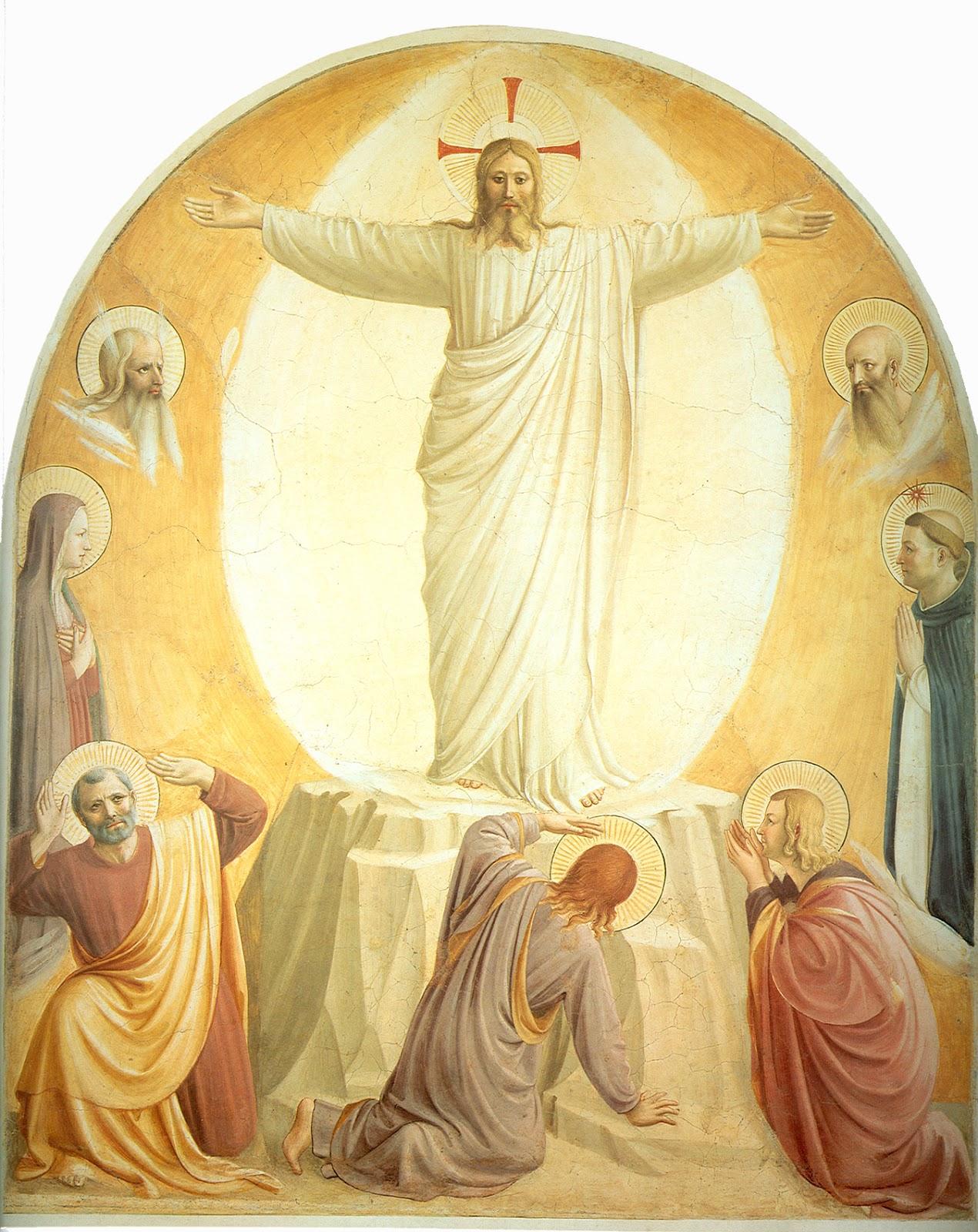"""transfiguration of christ La transfiguration de jésus se situe quelques jours après la profession de foi de pierre, disant au christ : """"tu es le christ, le fils du dieu vivant."""