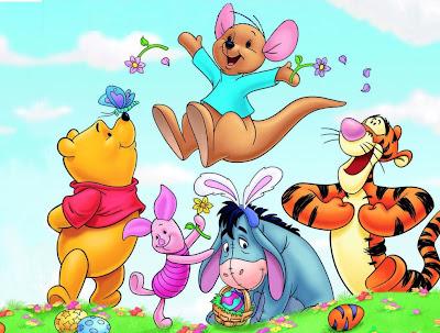 Winnie pooh y sus amigos jugando