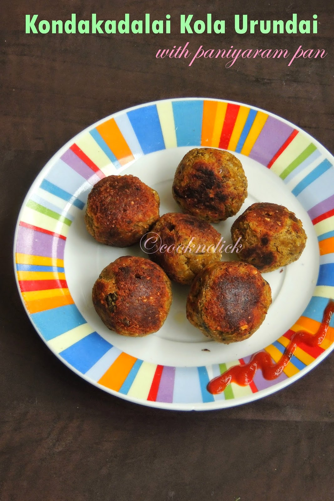 Sprouted chickpeas balls, no deep fry chickpeas balls