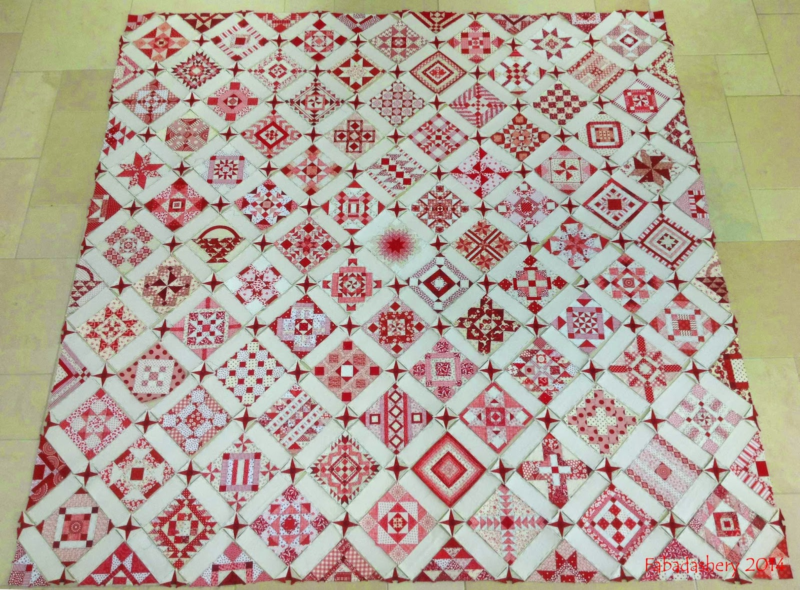 Nearly Insane Quilt - Red and White