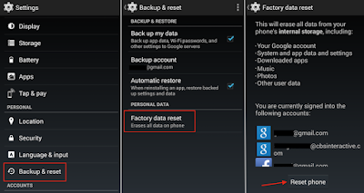 Hard Reset Sony Xperia SL using menu