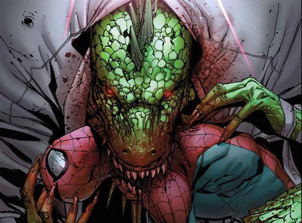 Lizard Bite Spider-Man Pic