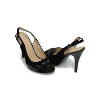 Sandale elegante Modlet, negru catifea, din colectia Arcadia