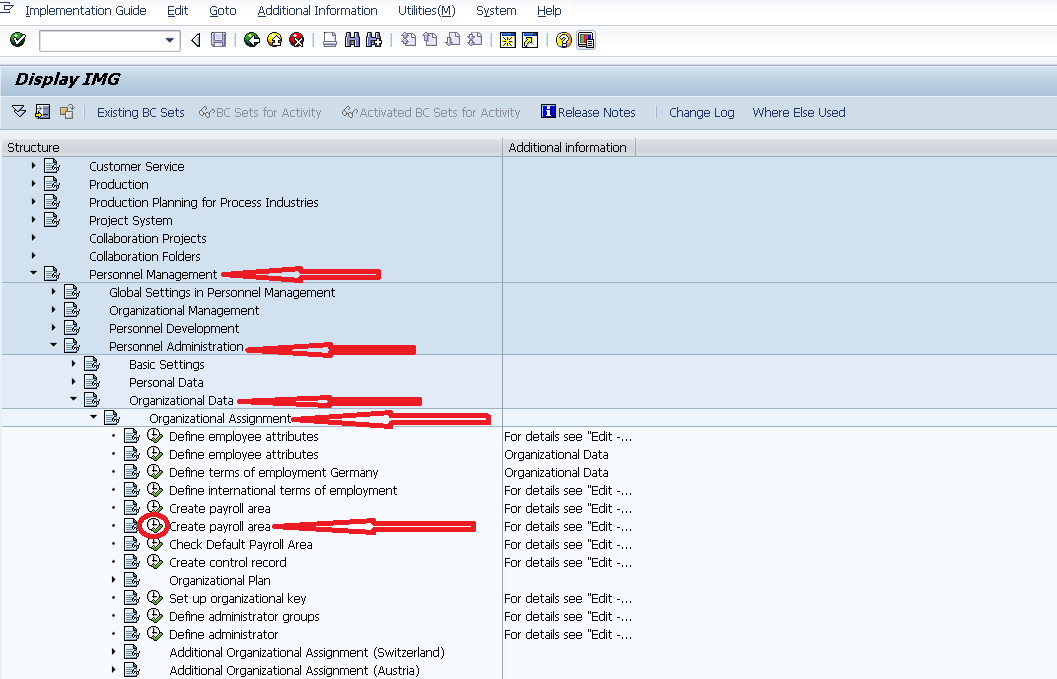 sap how to create functional area