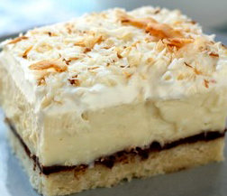... coconut coconut cream pie filling extra coconutty of course finished