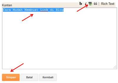 Cara Mudah Membuat Link di Blog