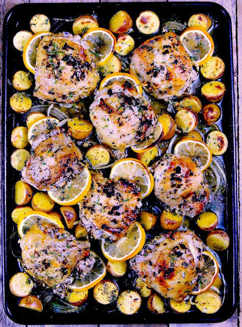 Sheet Pan Lemon Chicken from www.bobbiskozykitchen.com