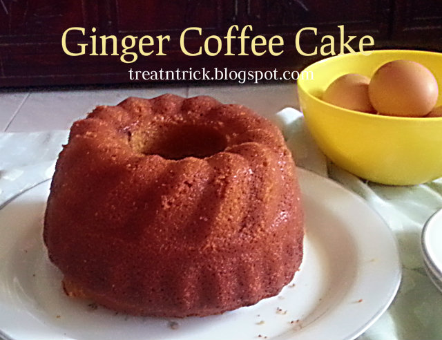 Ginger Coffee Cake Recipe @ treatntrick.blogspot.com