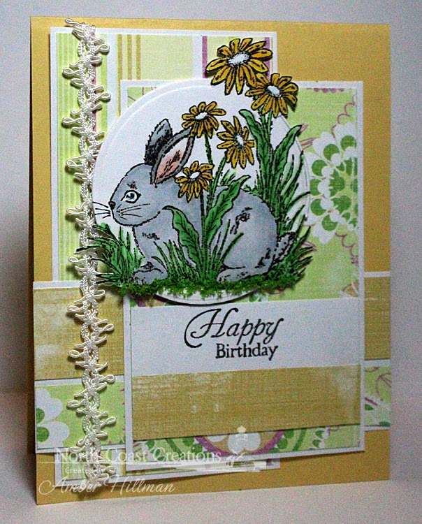 Stamps - North Coast Creations Floral Sentiments 2, Hoppy Easter