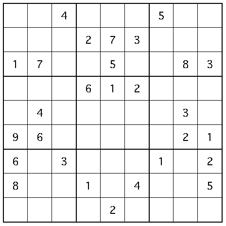 "Kenny's Sudoku ""数独"": Triple H [Sudoku medium 034]"