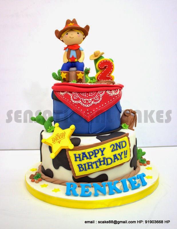 The Sensational Cakes Little Cowboy Range Theme Birthday Cake