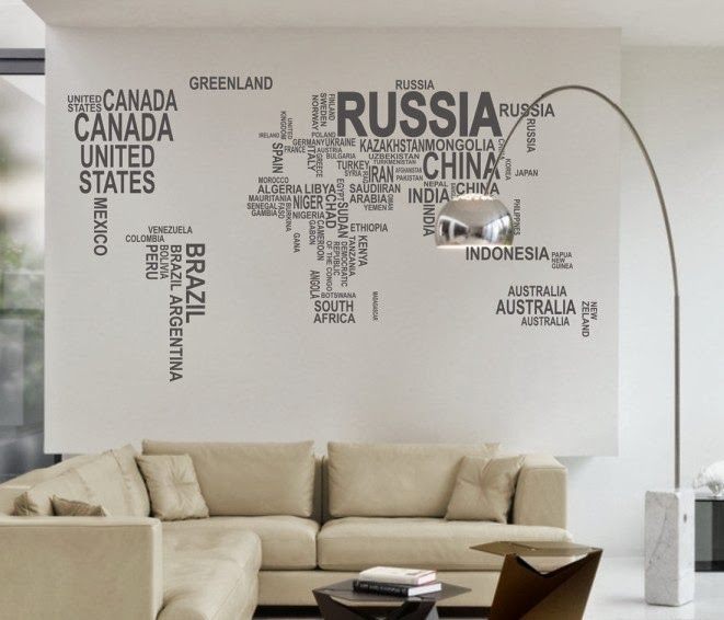 World Maps Wall Mural Art Home Decor by maxginez3