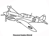 Gambar Mewarnai Pesawat Tempur