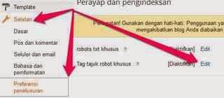 Cara Mengatur Custom robots Header Tags Pada Blogger