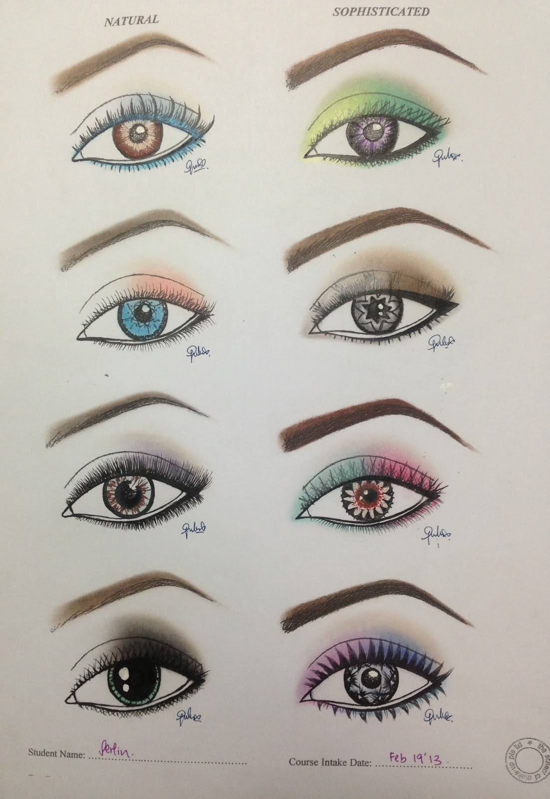makeup is my art paper works face charts eye templates