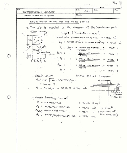 CALCULATION OF TOWER CRANE FOUNDATION 1 XCMG TOWER CRANE