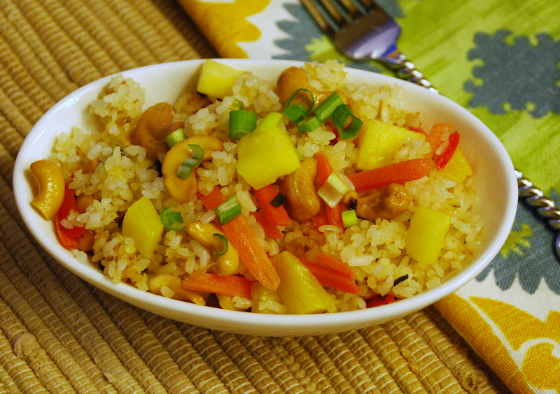 Everyday Insanity...: SRC--Ginger, Pineapple, Cashew Fried Rice