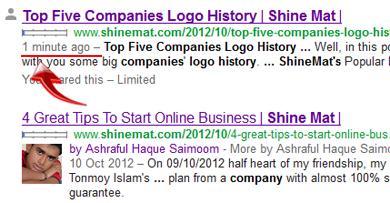 Google crawling at shinemat.com