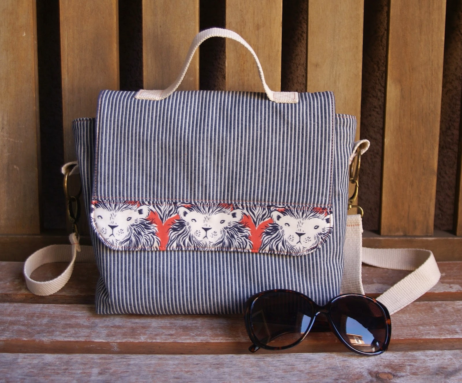 Malibu Satchel Tutorial by Heidi Staples of Fabric Mutt