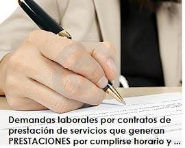 CUMPLE HORARIO Y ORDENES Y TIENE UN CONTRATO DE PRESTACIÓN DE SERVICIOS ?