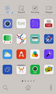 Screenshots of the Ultra Light Dodol iOS7 for Android mobile, tablet, and Smartphone.