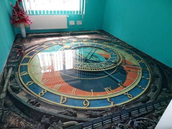3d flooring art for living room interior designs
