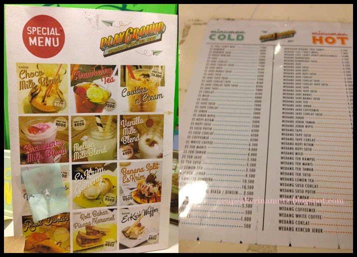 Kuliner jogja playground by cafe tiga tjeret rina for Z kitchen jogja menu
