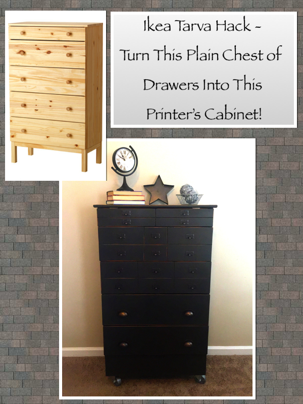 diy modern ikea tarva hack. Ikea Tarva Hack - Turn This Plain Dresser Into A Faux Printer\u0027s Cabinet /  Apothecary Chest! Diy Modern Ikea Tarva Hack