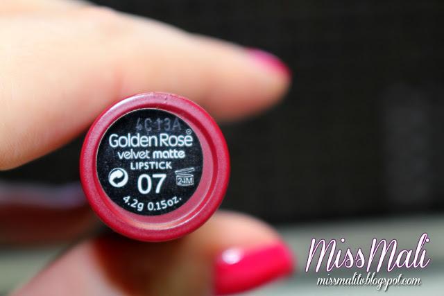 Golden Rose Velvet Matte 07 swatch