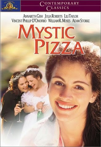 Mystic Pizza (Released in 1988) - A coming of age movie - Starring Annabeth Gish, Julia Roberts, Matt Damon and Lili Taylor