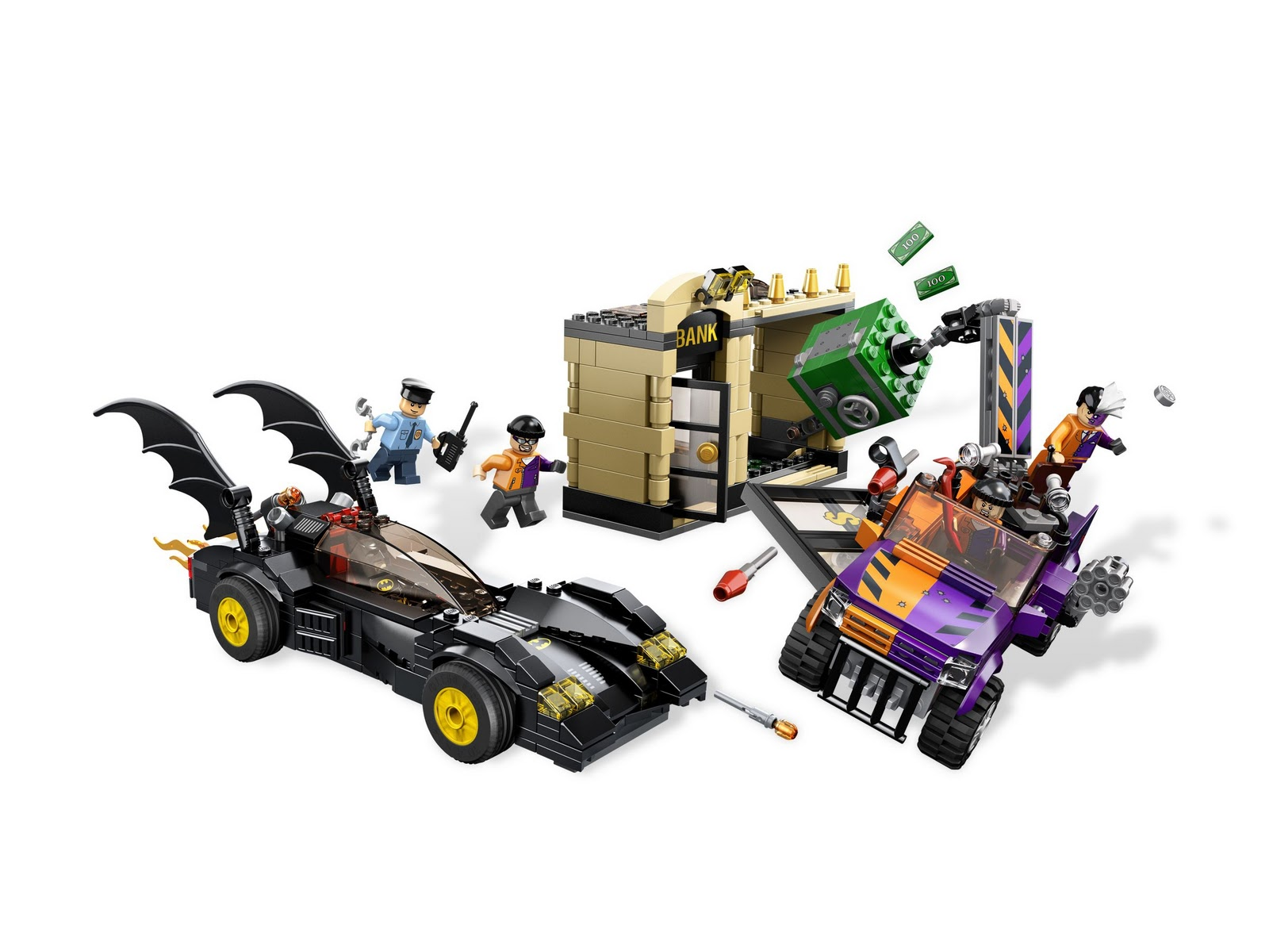 2012 Lego Batman 6864 The Batmobile And The Two Face Chase