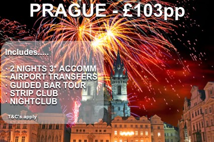 fireworks going off in Prague