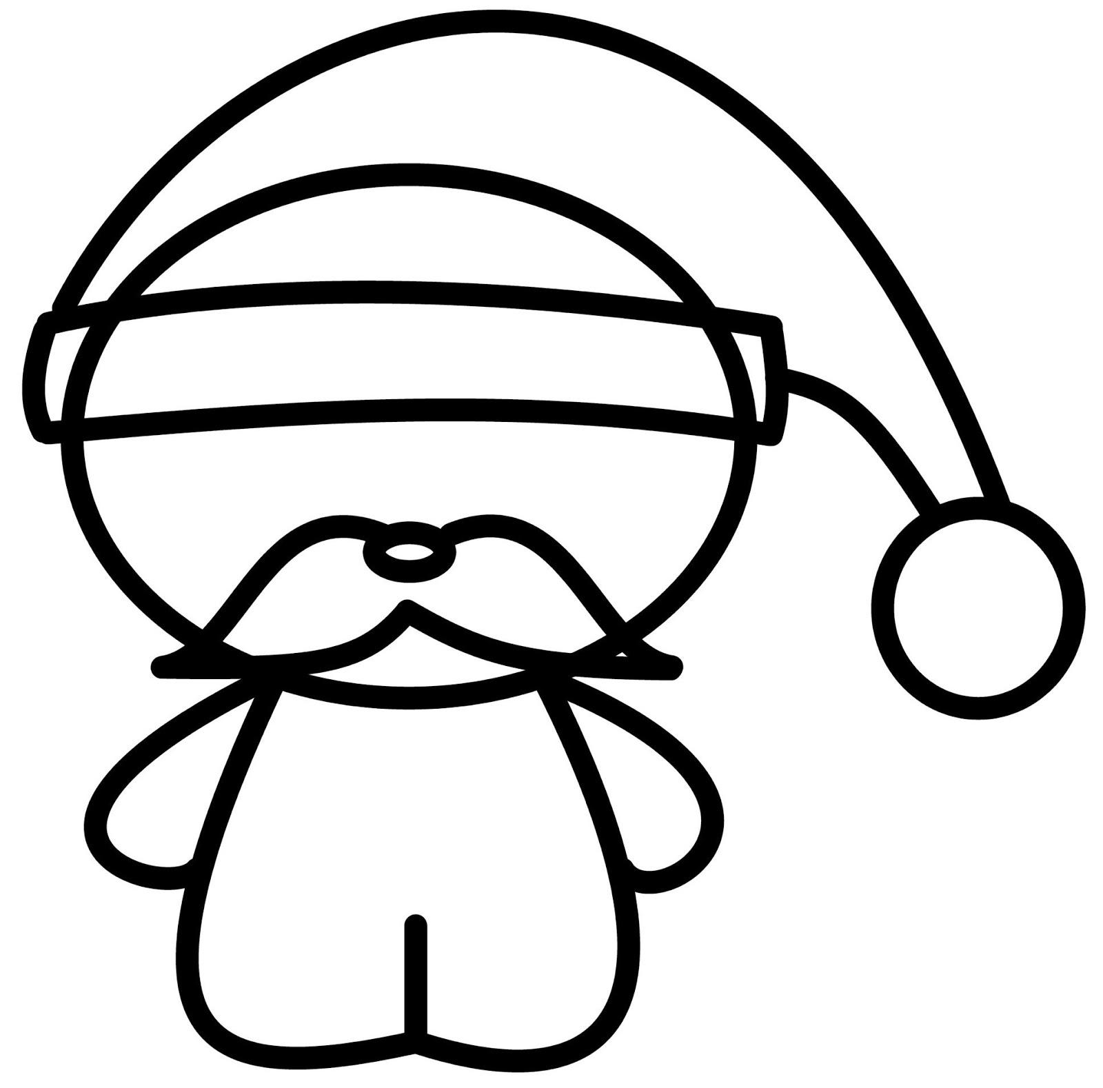 How to draw cartoons chibi santa