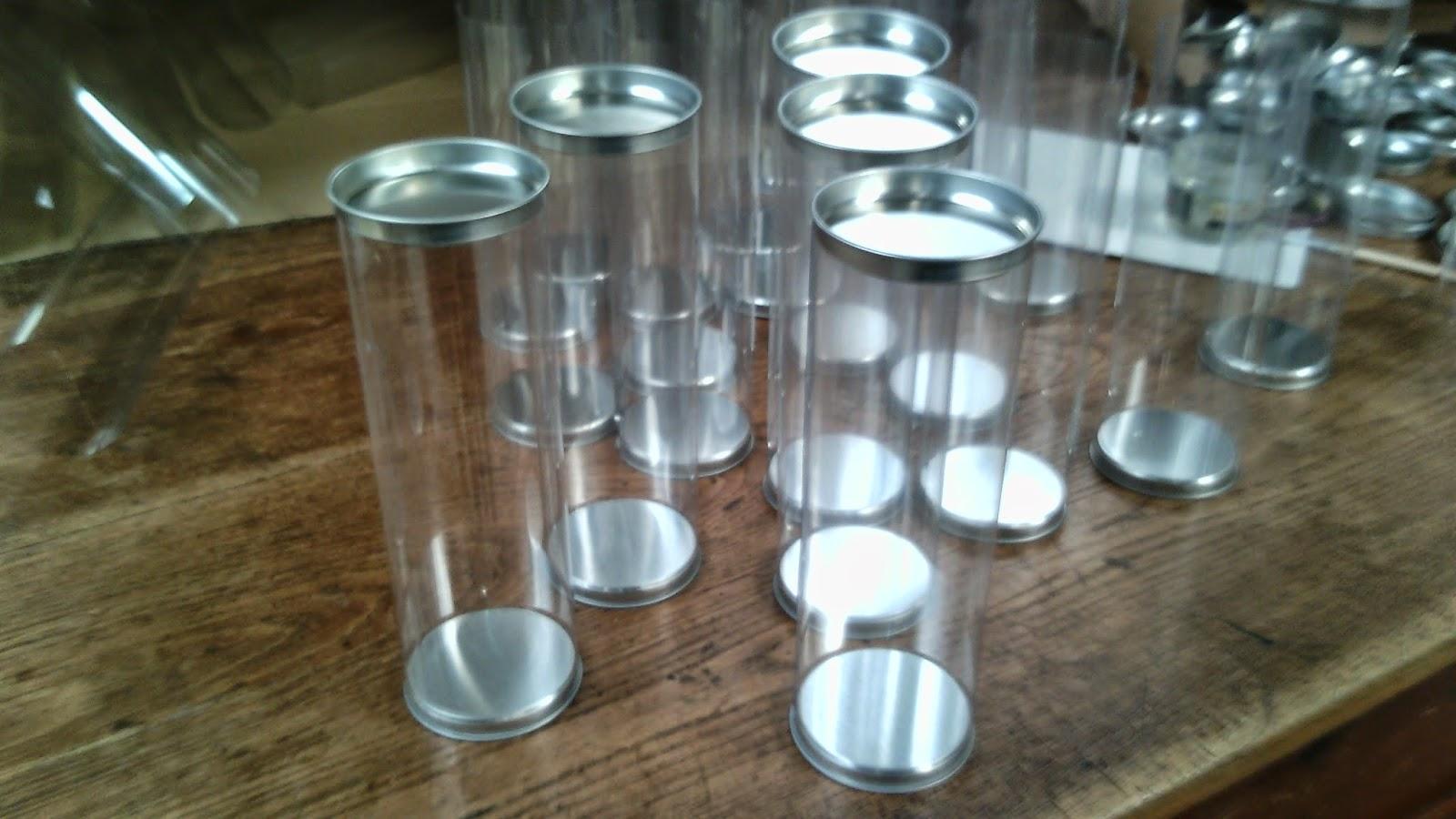 Papel line 12 cajas de pl stico envases pvc acetato - Tubos cuadrados de pvc ...