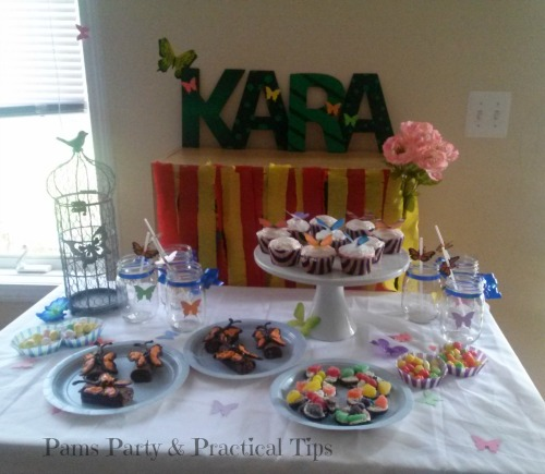 Our Butterfly Party Dessert Table