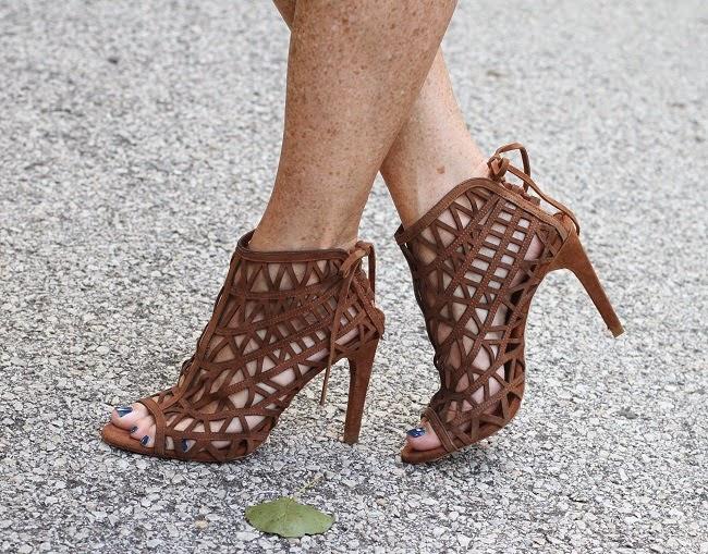 zara cage heels