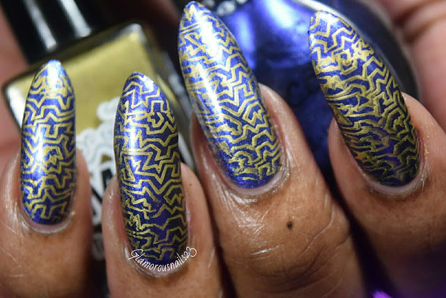Lily Anna 08 Stamping Using Mundo De Unas Gold Stamping Polish