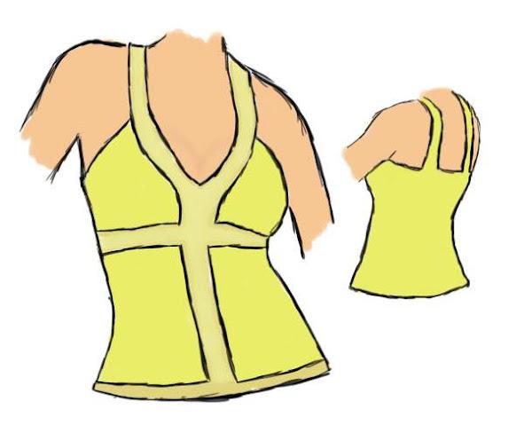 Molde de costura gratis blusas modernas de verano