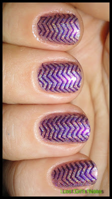 opi ds amethyst swatches with bundle monster plates design