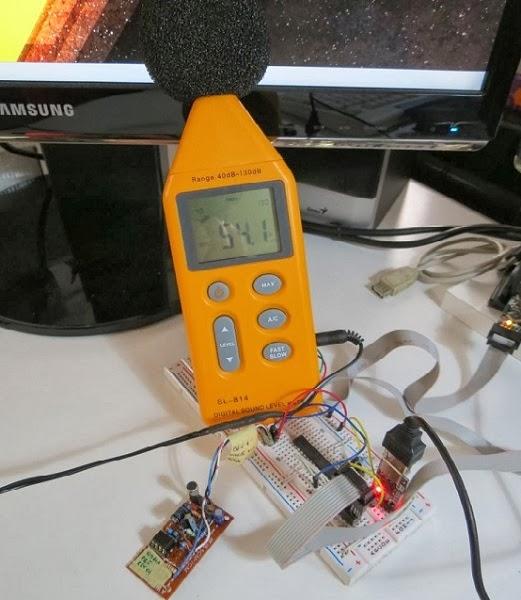 decibelímetro com AVR