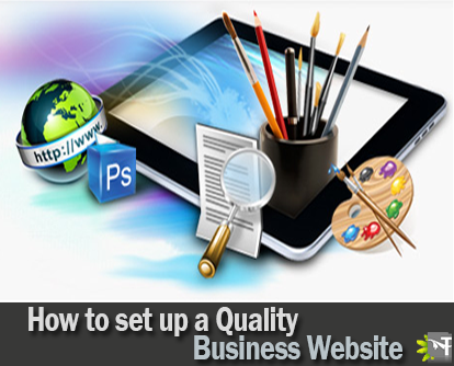 how to set up a quality business website