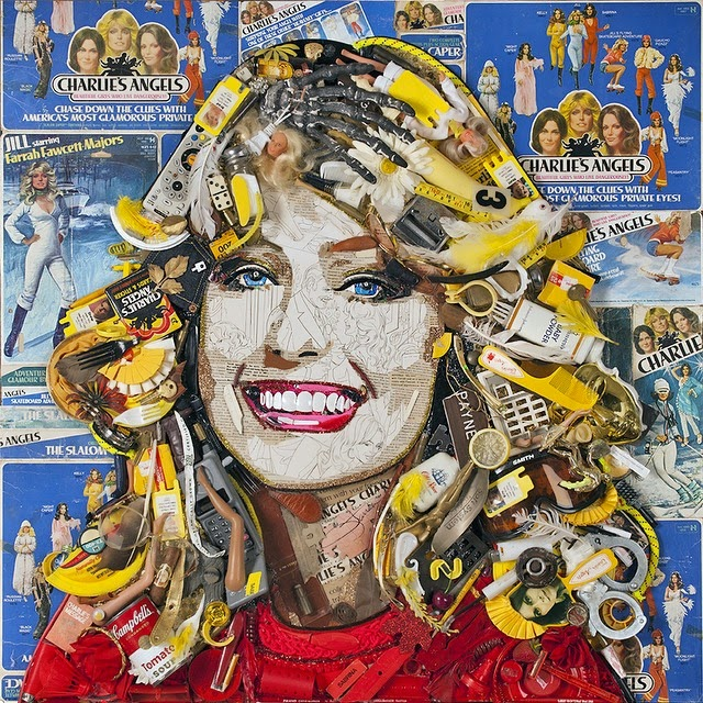 24-Farrah-Fawcett-2-Jason-Mecier-Paintings-or-Sculptures-in-Portrait-Collage-www-designstack-co